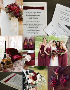Burgundy Wedding Theme Is The New Black This Season And We Are