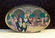 Tea at the Ritz Art Deco Artwork Fox's Vintage by tinprincess