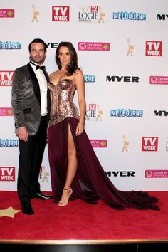 Charlie Clausen + Cassie Howarth aka Zac and Hannah at the 56th TV Week Logie Awards