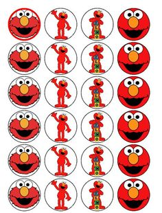 Elmo free vector for free download about 4 files for Printable elmo cake template