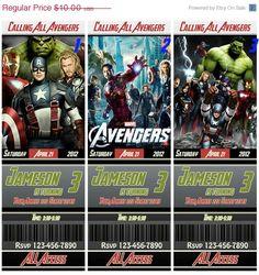 SALE 20 OFF The Avengers Birthday Ticket Invitation by BirthdayP, $8.00