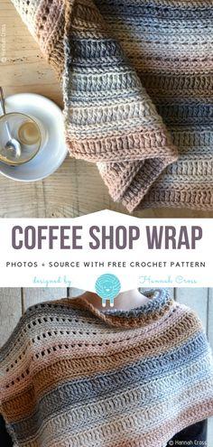 The Coffee Shop Wrap Free Crochet Pattern | Wool Pattern