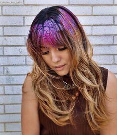 STENCIL HAIR HOW-TO WITH INSTATINT. Janine Ker hair stencils with Joico InstaTint Temporary Shimmer Spray #StencilHair #HairStencil #HairArt