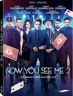 Now You See Me 2 Movie Poster - Morgan Freeman, Jesse Pk Eisenberg, Daniel Radcliffe Insaisissable Film, Bon Film, Film Serie, Great Movies, New Movies, Movies Online, Movies To Watch, 2016 Movies, Mark Ruffalo