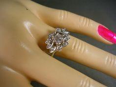 Antique Diamond Ring 1940s era 50 Ctw size 6 by estatejewelryshop, $595.00