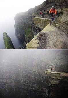 The Cliffs of Moher, Ireland    Towering at a top height of 700 feet above the Atlantic ocean.