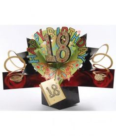 Happy 18th Birthday PopUp Greeting Card! Only £5 delivered from www.simplythankyou.com