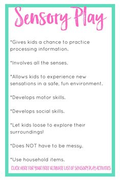 Sensory play can be so much fun, but it's also very beneficial. Today I explain what is sensory play and why you need it in your homeschool preschool. Learning Stories, Play Based Learning, Learning Through Play, Early Learning, Kids Learning, Eylf Learning Outcomes, Learning Resources, Teaching Ideas, Sensory Bins