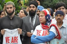 Click through the slideshow to look at photos from the Sikh Vigil in Union Square NEW YORK -- Across America, thousands gathered on Wednesday ev. Union Square, Wisconsin, That Look, Nyc, Community, Indian, Photos, Pictures, New York