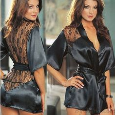 Cheap erotic underwear, Buy Quality intimates sleepwear directly from China sexy night gown Suppliers: IMC Hot Sexy Lingerie Plus Size Satin Lace Black Kimono Intimate Sleepwear Robe Sexy Night Gown Women Sexy Erotic Underwear Sexy Lingerie, Lingerie Gown, Jolie Lingerie, Babydoll Lingerie, Lingerie Sleepwear, Lace Babydoll, Lingerie Quotes, Cheap Lingerie, Lingerie Ladies
