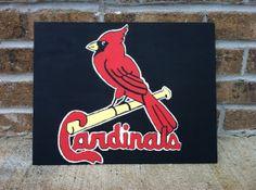 11x14 STL Cardinals Baseball Canvas Panel by CanvasArtByBrandy, $15.99