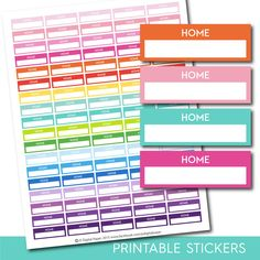 Home stickers, Home planner stickers, Printable home stickers, Home box stickers, Home Header stickers, Life planner stickers, STI-211
