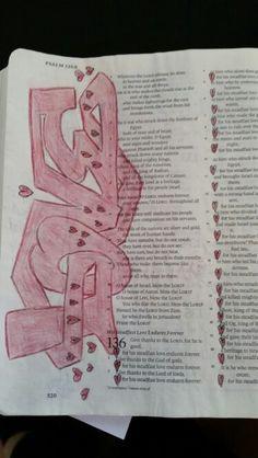 Bible journaling - Psalms 136