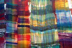 "Saori weaving from the ""Saori Bridges of Elm Park"" project. Photo by Jonathan Sher."