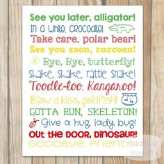 See You Later Alligator 16x20 Poster by MadebyMeechDesign on Etsy