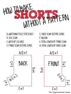 shorts sewing pattern - Google Search