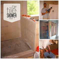 Duo Ventures: DIY Tile Shower - PART 1