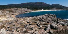 Castro Baroña (Porto do Son, A Coruña). Conjunto castrexo situado en la costa atlántica.Galicia