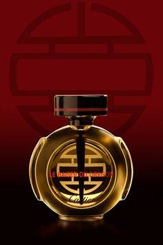 *Le Baiser Du Dragon Cartier for woman (het teken op de fles en op de dop = de kus van de draak)