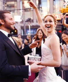 jennifer lawrence & bradley cooper. Seriously are perfect together. They need to just be okay with that.