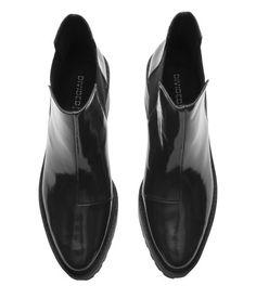 H&M black patent boots