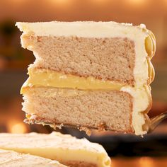The holidays aren't the holidays without eggnog. This layer cake takes cues from the classic holiday drink for a perfectly decadent and festive dessert. We'd take a slice of this over a Christmas cookie any day. Get the recipe at . Tolle Desserts, Köstliche Desserts, Delicious Desserts, Dessert Recipes, Hot Fudge Cake, Hot Chocolate Fudge, Chocolate Recipes, Winter Desserts, Christmas Desserts