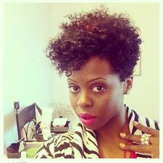 asymetrical natural hair styles | Want ideas on a fierce cut check out Short Natural Hair Cuts gallery