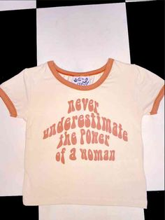 Never underestimate the power of a WOMAN. NEVER. #RISEOFALLWOMEN  Round neck cropped ringer tee Cotton elastane blend All over stretch