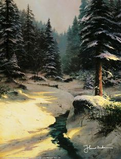 Winter Light by Thomas Kinkade