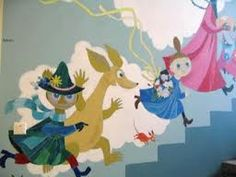 original wall painting by tove jansson in childrens hospital, sadly no longer exists