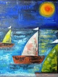 Resultado de imagen para cuadros de barcos pintados al oleo