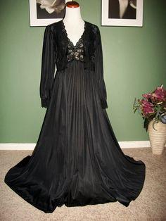 f42fce8a43 SHADOWLINE Black Spandex Nightgown   Robe 140