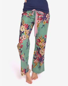 FLEUR Womens Soft Printed Pyjama Bottoms