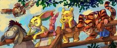 For the love of Winnie the pooh and his Hundred Acre Wood friends. Disney Fan Art, Disney Love, Disney Magic, Disney Pixar, Disney Stuff, Walt Disney, Winnie The Pooh Friends, Disney Winnie The Pooh, Pooh Bear