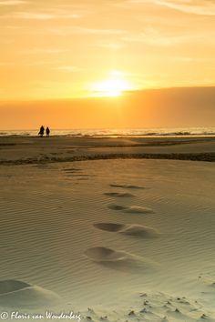 Zonsondergang op strand Terschelling