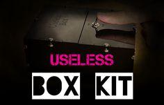 USELESS BOX KIT #awesome #box #Darren Barnard #design #DIY #tech #useless box Awesome Box, Diy Tech, Entertaining, Kit, Blog, Design, Blogging, Design Comics, Funny