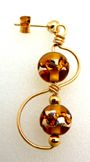 Treble Clef Beaded Earrings Jewelry Making Project Made with Lampwork Beads