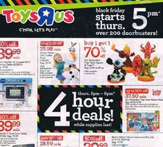 TOYS R US $$ Black Friday Ad 2014!
