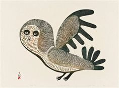 Lucy's Owl By Eegyvudluk Pootoogook, Lucy Qinnuayuak ,1969