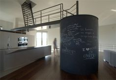 Old water tower in Belgium has been transformed into a modern single family house! What a great idea!!