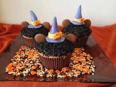 Tizi cooks: Cupcakes Minnie d'Halloween