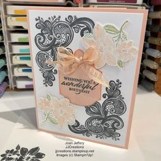Diy Birthday, Birthday Cards, Pink Cards, Stamping Up Cards, Thank You Cards, Cardmaking, Paper Crafts, Place Card Holders, Creative Cards