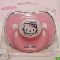Sanrio Hello Kitty Baby Pacifier Pink for Newborn and Up (With Clear Cover) | Everything Kitty