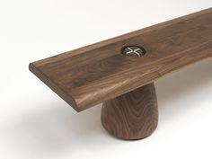 Panca in legno MATTEO by Riva 1920 | design Renzo Piano, Matteo Piano