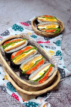 오니기라즈 만들기 김밥보다 쉬운 밥샌드위치 도시락 : 네이버 블로그 Best Korean Food, Rice Box, K Food, Korean Dishes, Picnic Foods, Japanese Food, Fresh Rolls, Sandwiches, Clean Eating
