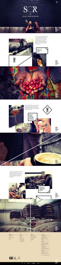Soyuz Coffee Roasting \\ Nice minimalist parallax. http://www.soyuzcoffee.com  I just like the font combo and specially the images