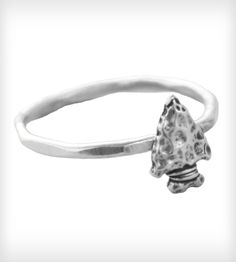 Arrowhead Ring - band made of fine silver