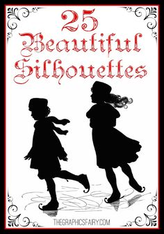 25+ Beautiful Silhouette Images! // The Graphics Fairy...I'm sharing 25+ beautiful silhouette images. These are some of my favorites, and silhouettes are perfect for so many holiday crafts, like cards, original art, and pillows…you name it! You can also use these images with your cutting machines and make some beautiful projects too!