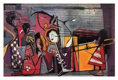 'Street Music' (Jenkins Band) by Norman Lewis.