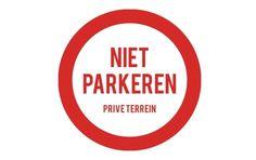 Niet parkeren sticker